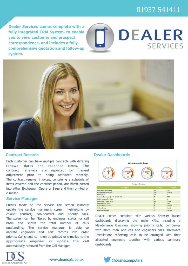 Dealer service management