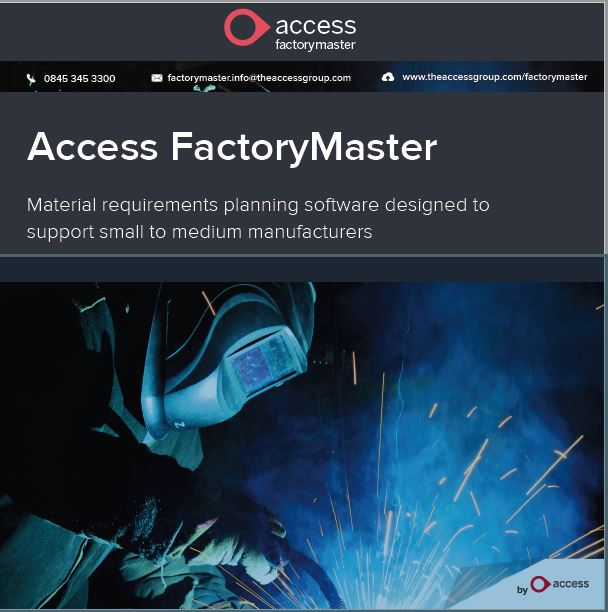 FactoryMaster manufacturing software MRP