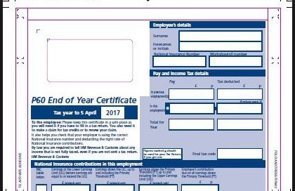 Payrolol Year end forms P60