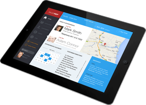 Mobile sales software for sales reps