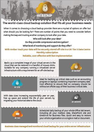 Amber Vault Cloud managed services, cloud backup