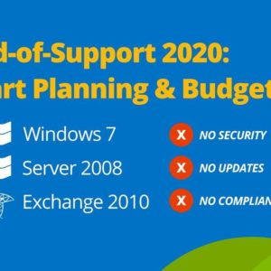 Windows end of support 2020, Windows 7, Server 2008, Exchange 2010