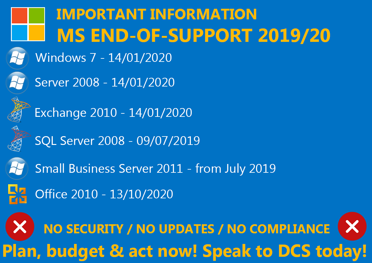 Microsoft End of Life 2020