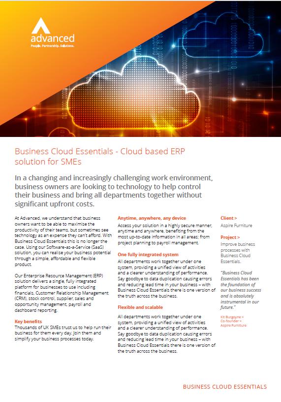 Advanced Business Cloud Essentials
